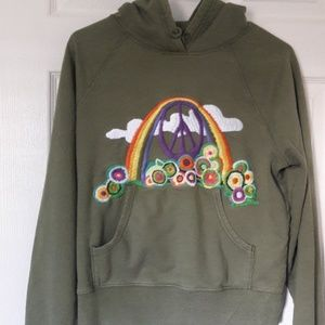 Lucky Brand embroidered hoodie Med